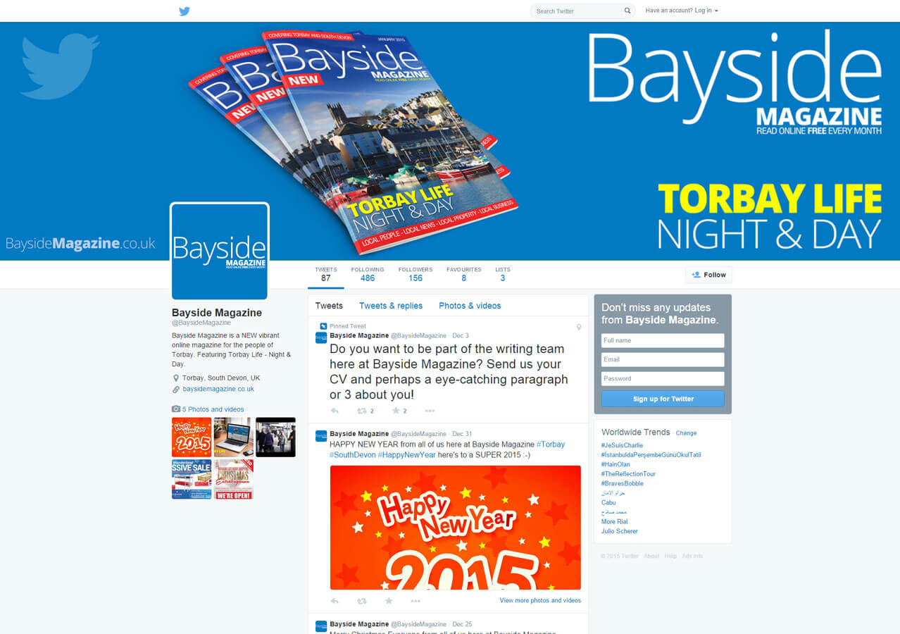 Bayside Magazine on Twitter